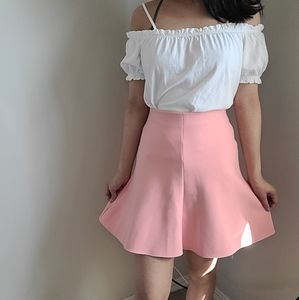 Zara peach pink circle/skater skirt